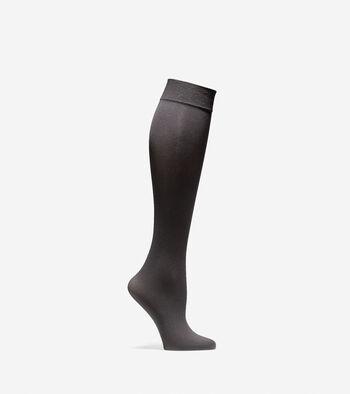 Solid Knit Knee Socks