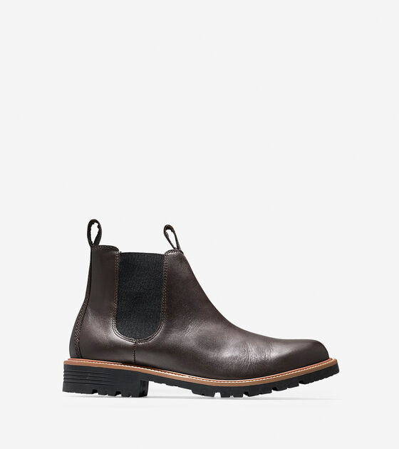 a9dfbb3955f Men's Grantland Waterproof Chelsea Boots in Dark Roast | Cole Haan