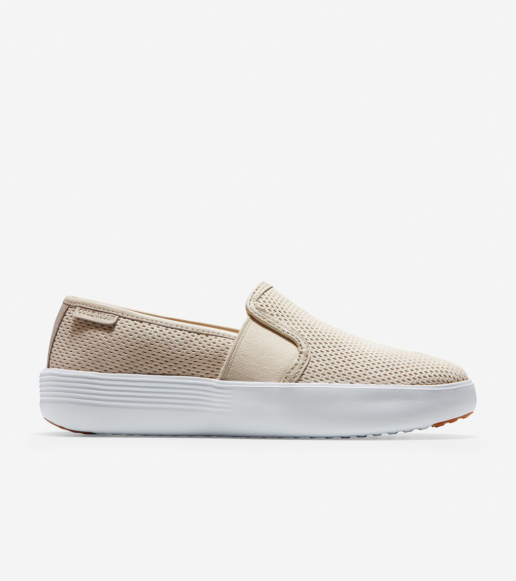 Womens Grand Crosscourt Flatform Slip-On Sneaker