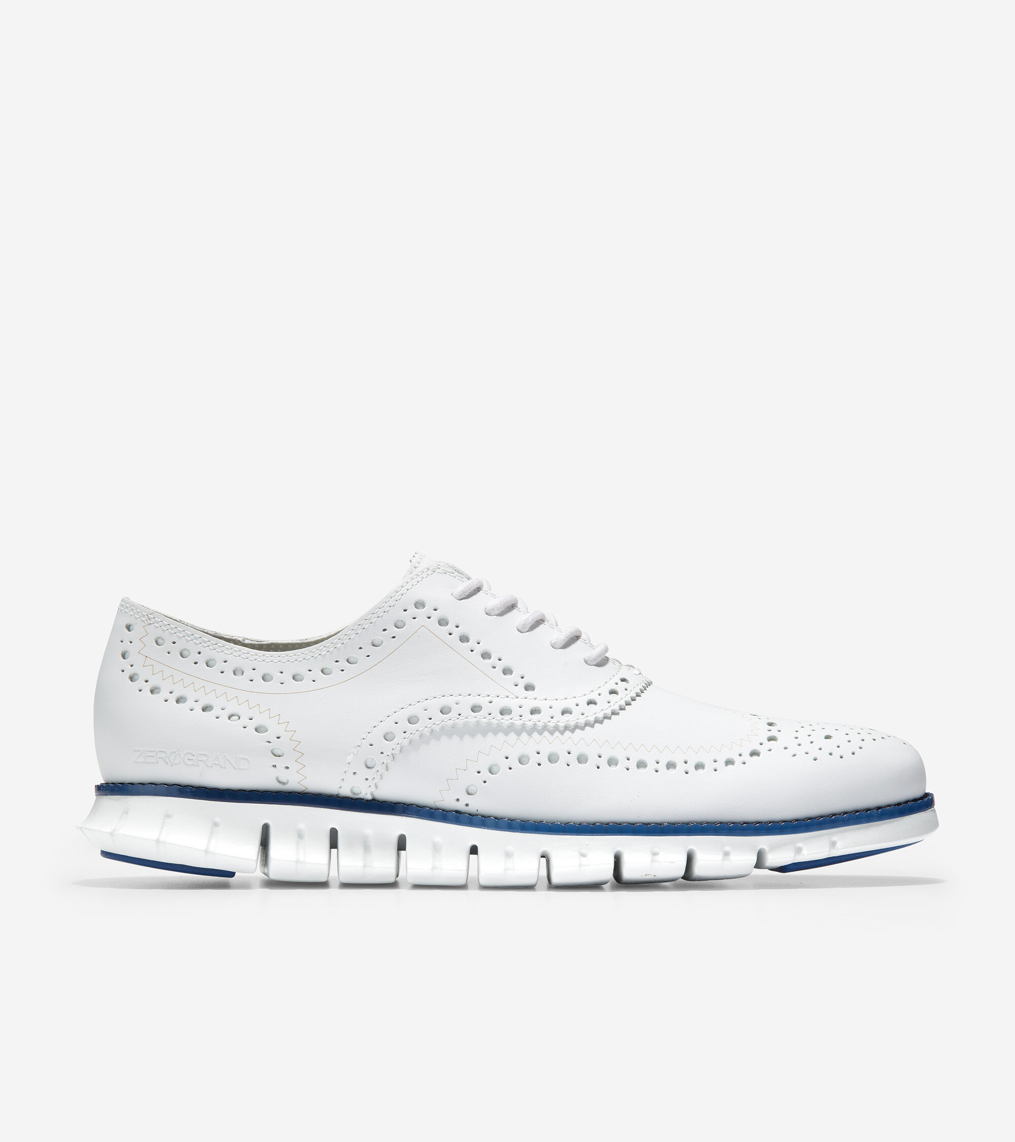 Optic White Leather-True Blue   Cole Haan