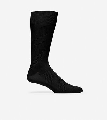 Diagonal Chevron Texture Crew Socks