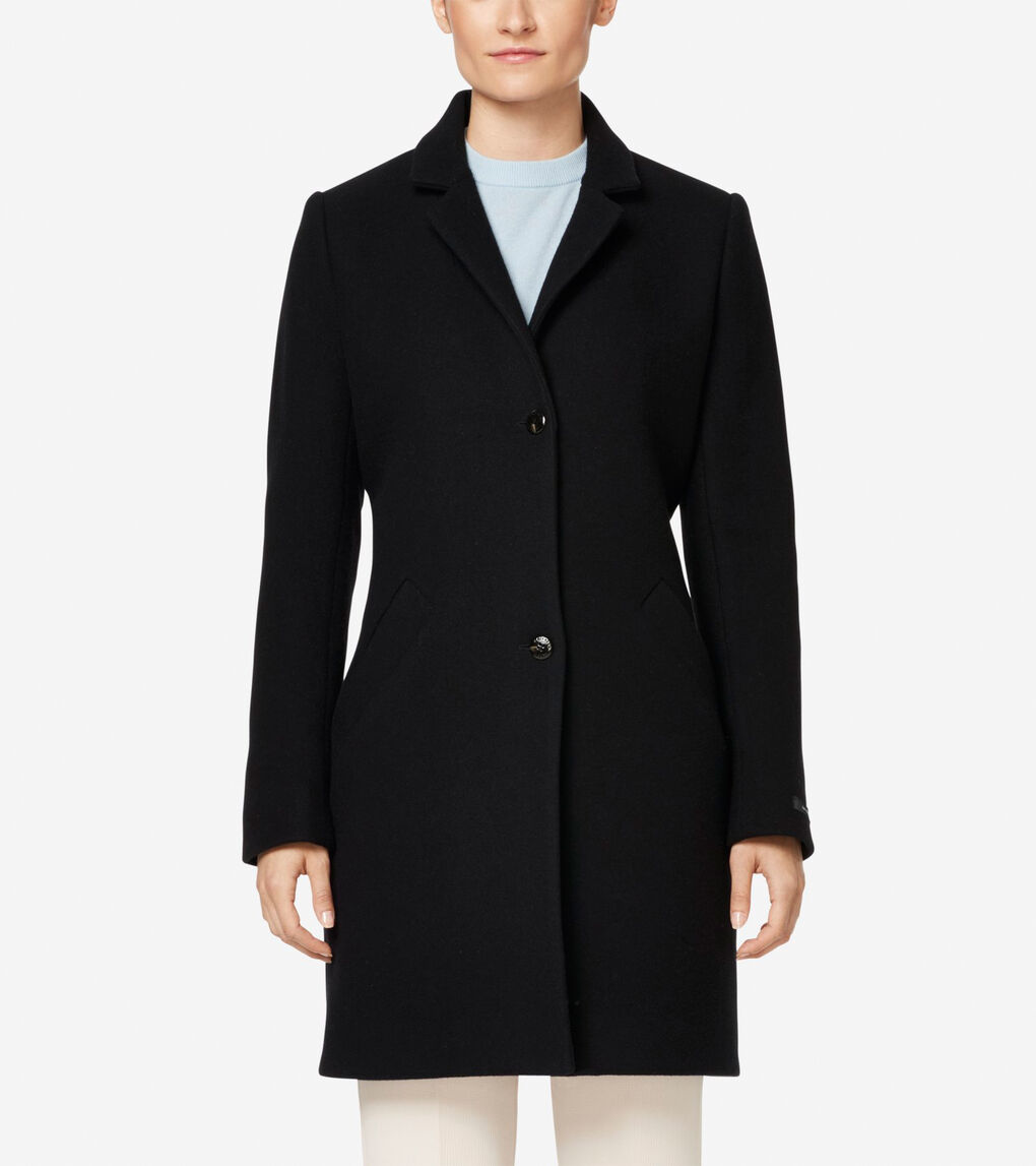 Womens Classic Double Faced Wool Jacket