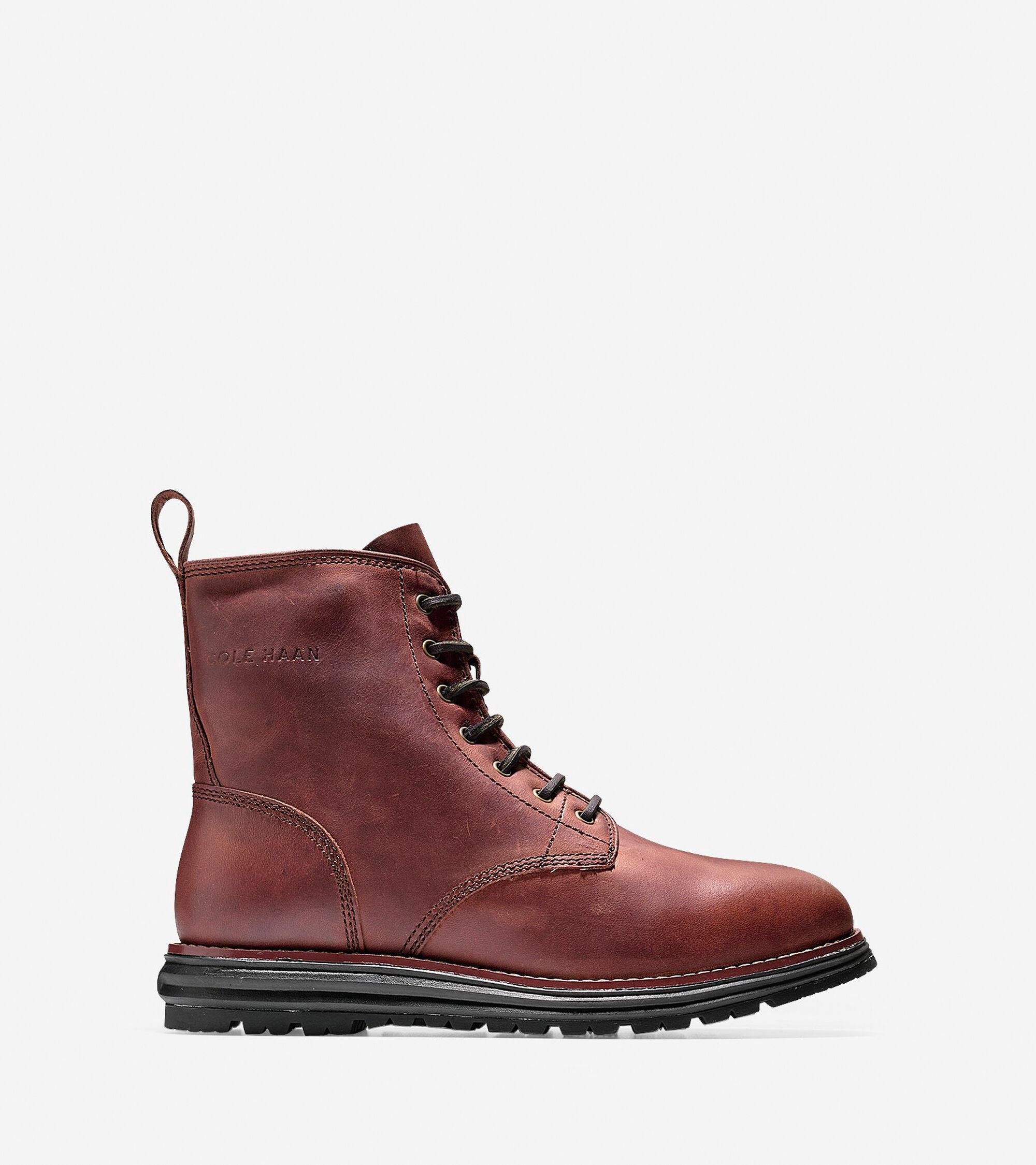 73ed6e01472 Lockridge Waterproof Lace Boots in Burnt Chili
