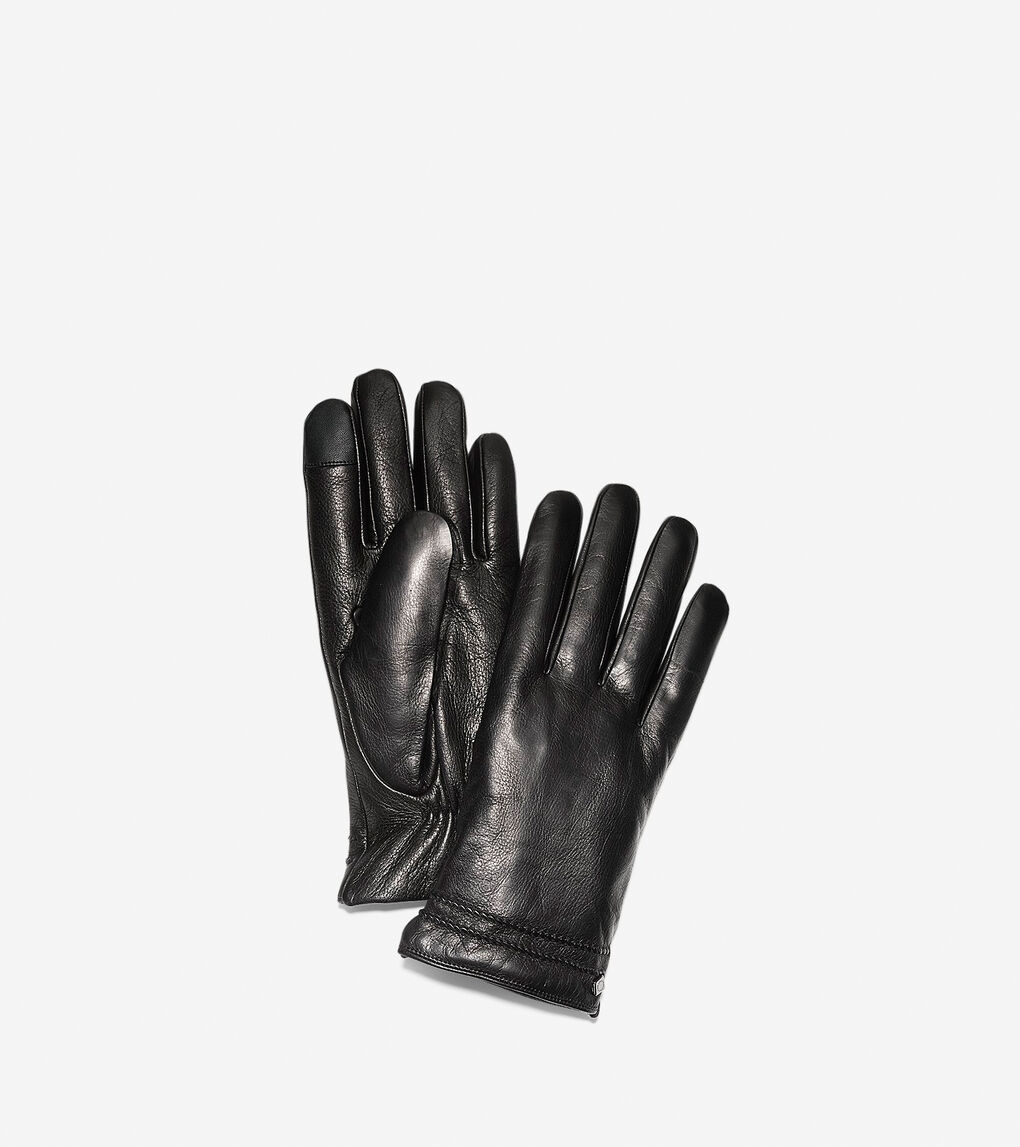 62642fc290 Men's Washington Grand Gloves in Black Leather | Cole Haan US