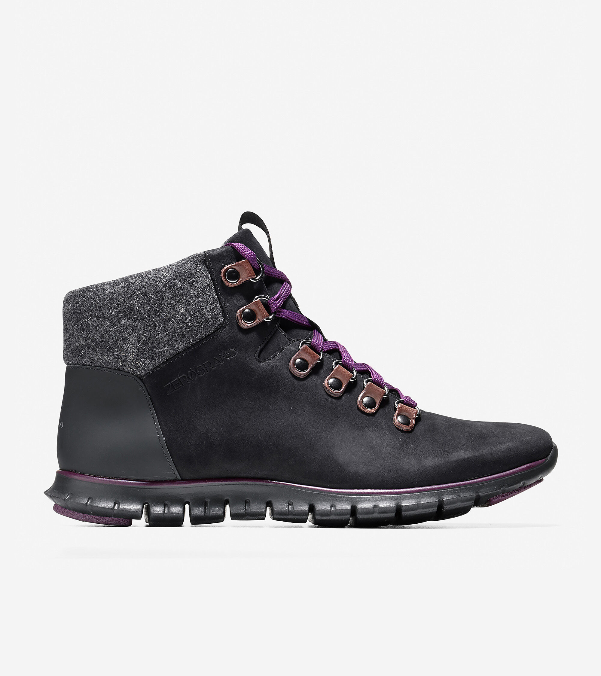 Hiker Boot in Black-Elderberry