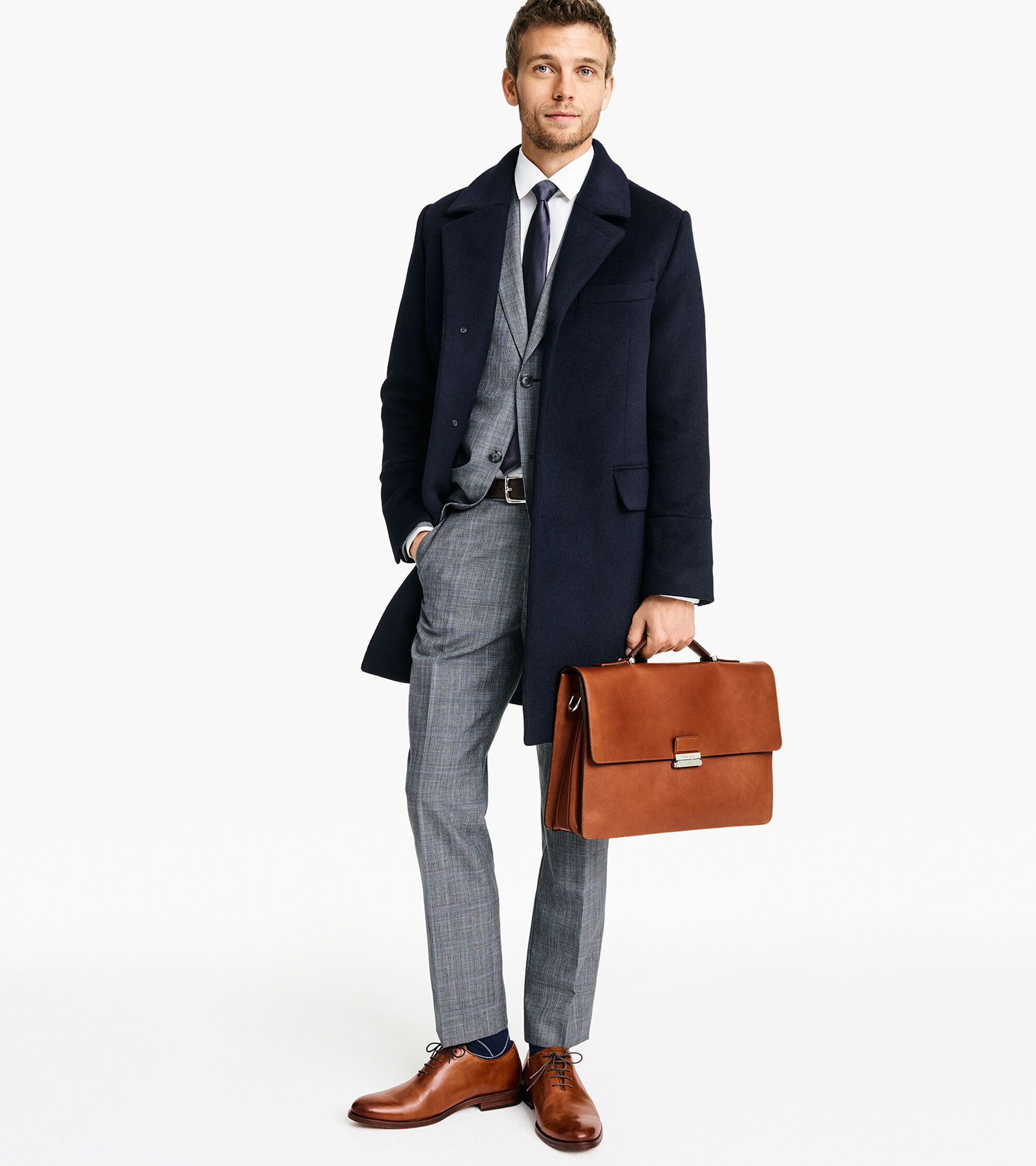 993a067cc7 Men's Washington Grand Double Gusset Briefcase in Brown | Cole Haan
