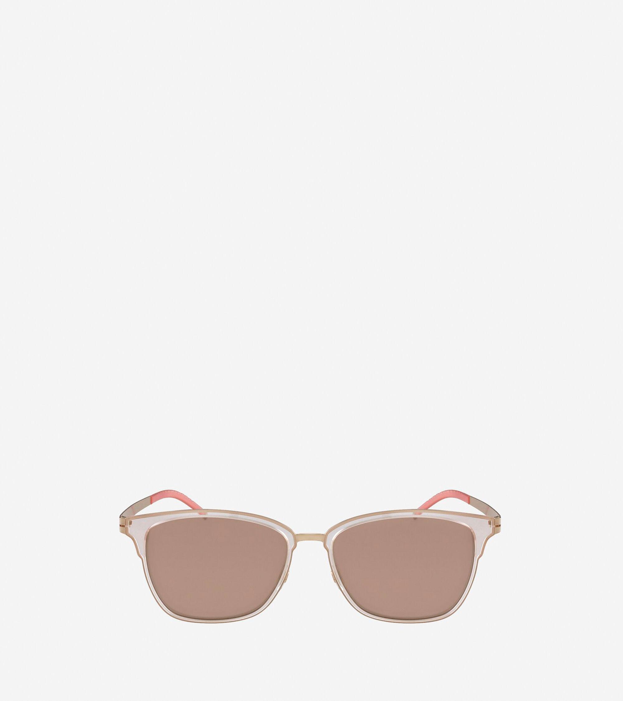 Cole Haan Women's StudioGrand Rectangle Sunglasses