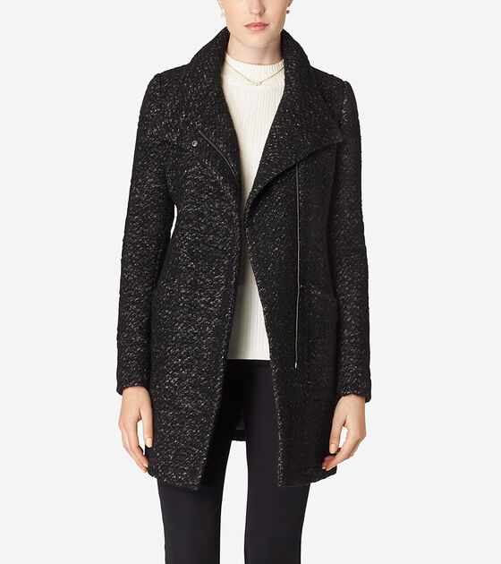 Bags & Outerwear > Italian Wool Stand Collar Coat