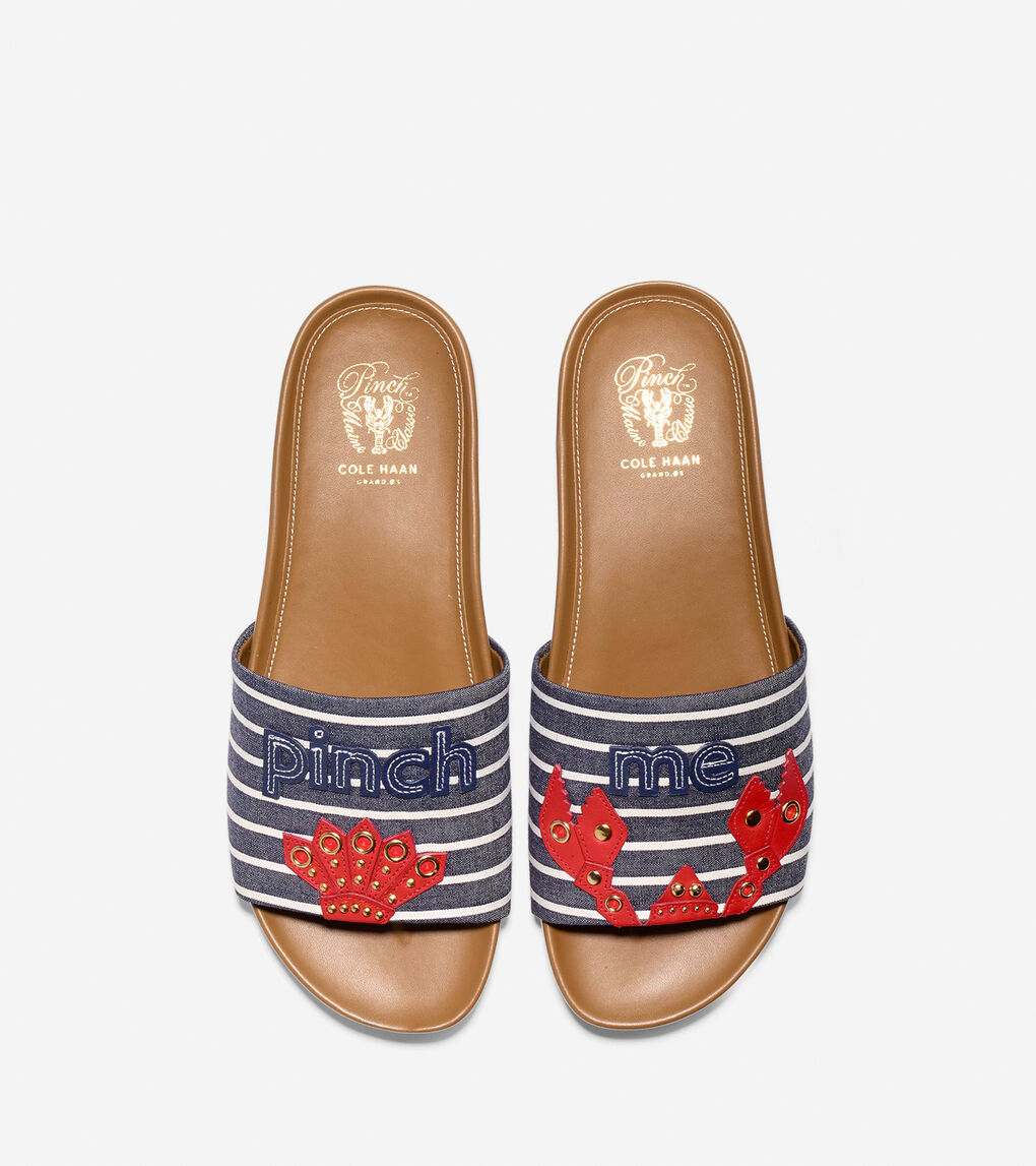Womens Pinch Montauk Lobster Slide Sandal
