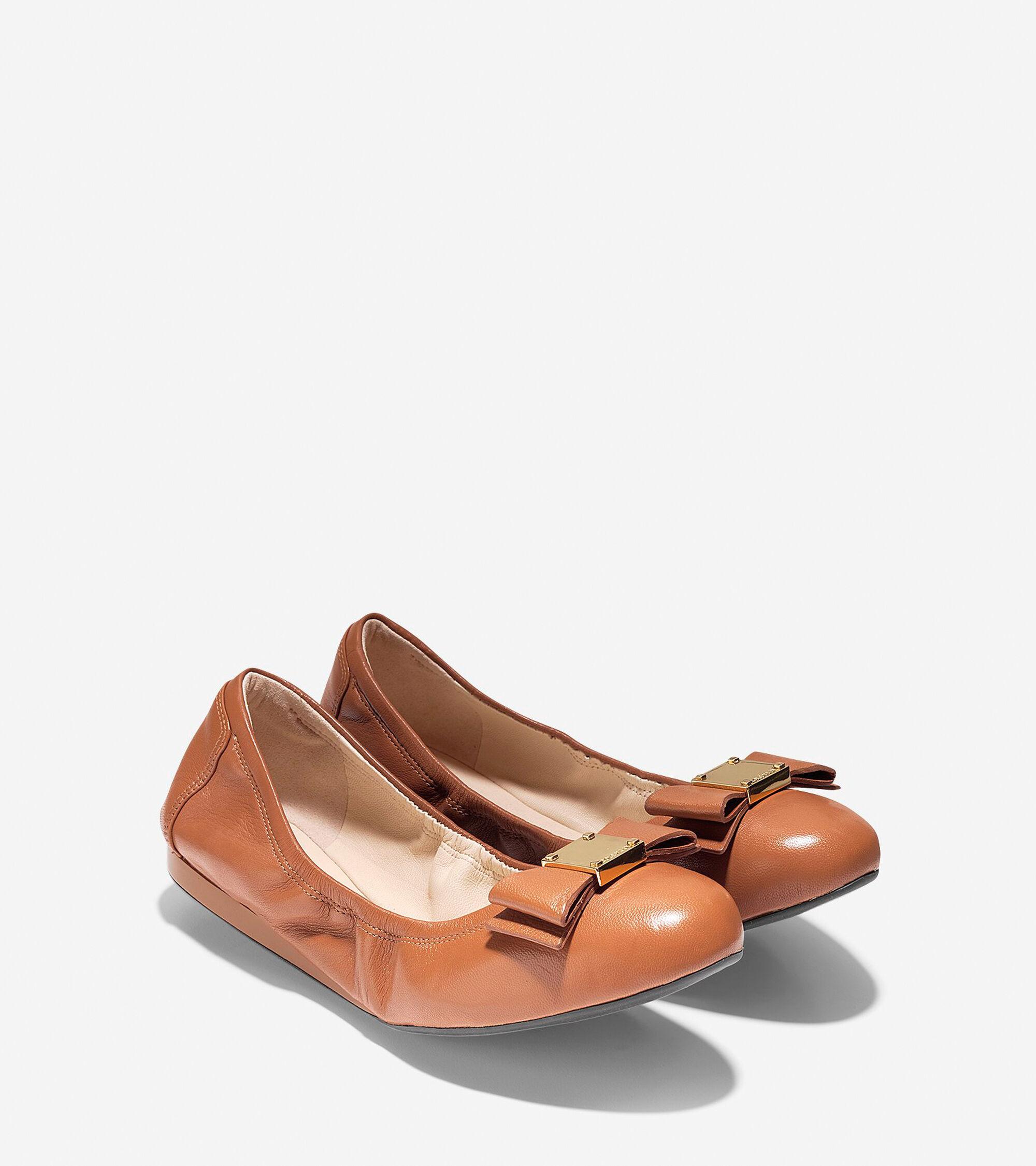 f3c2530c60b3 Women s Tali Bow Ballet Flats in British Tan