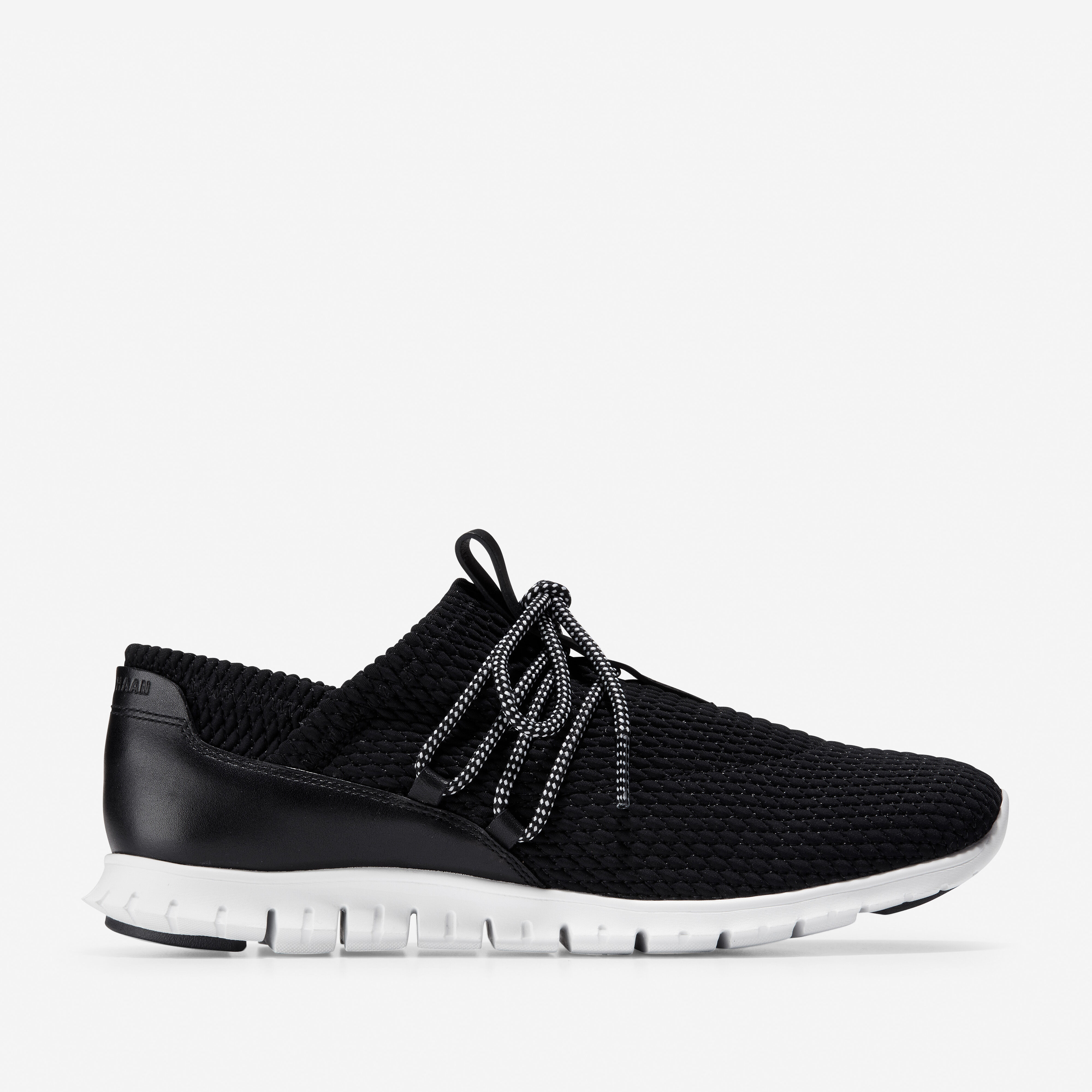 Quilted Sneaker in Black-optic White