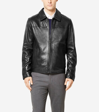 Signature Smooth Lambskin Shirt Collar Jacket