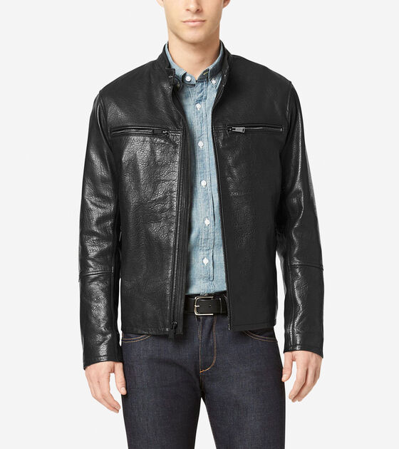 Outerwear > Classic Leather Moto Jacket
