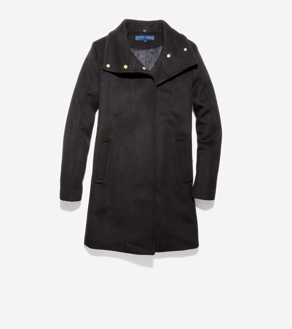 Womens Slick Wool Topper Coat