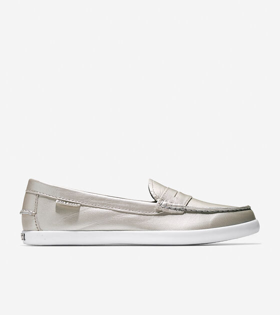 a4b2e1f9890 Women s Nantucket Loafers in Argento Leather   Sale