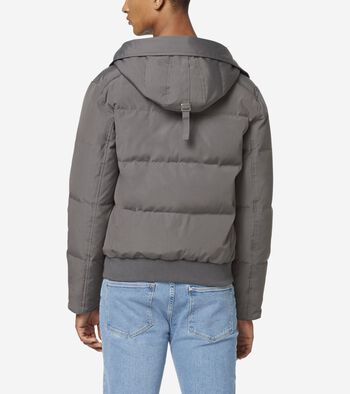 Oxford Down Hooded Bomber Jacket