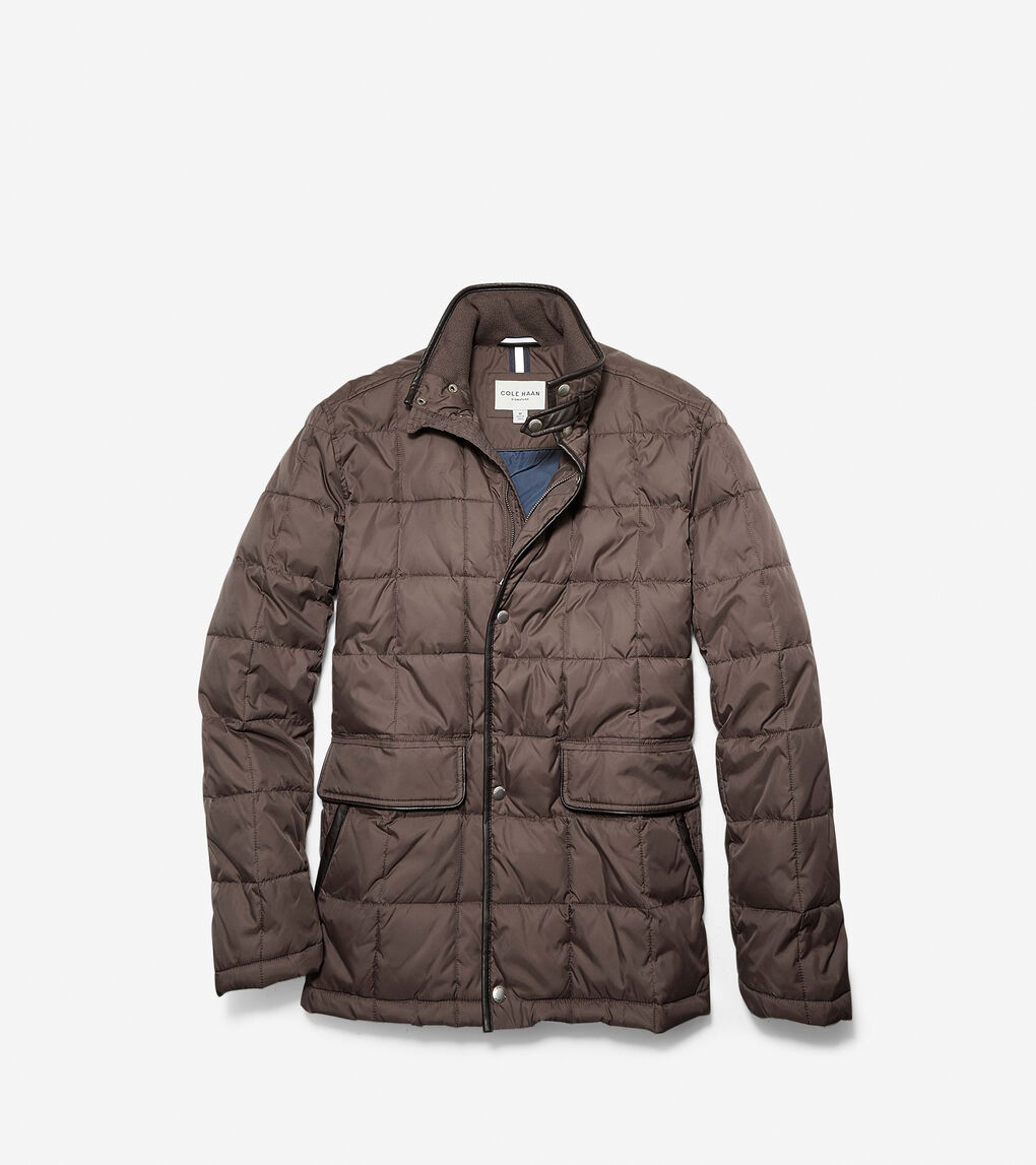 Mens Signature Box Quilted Coat
