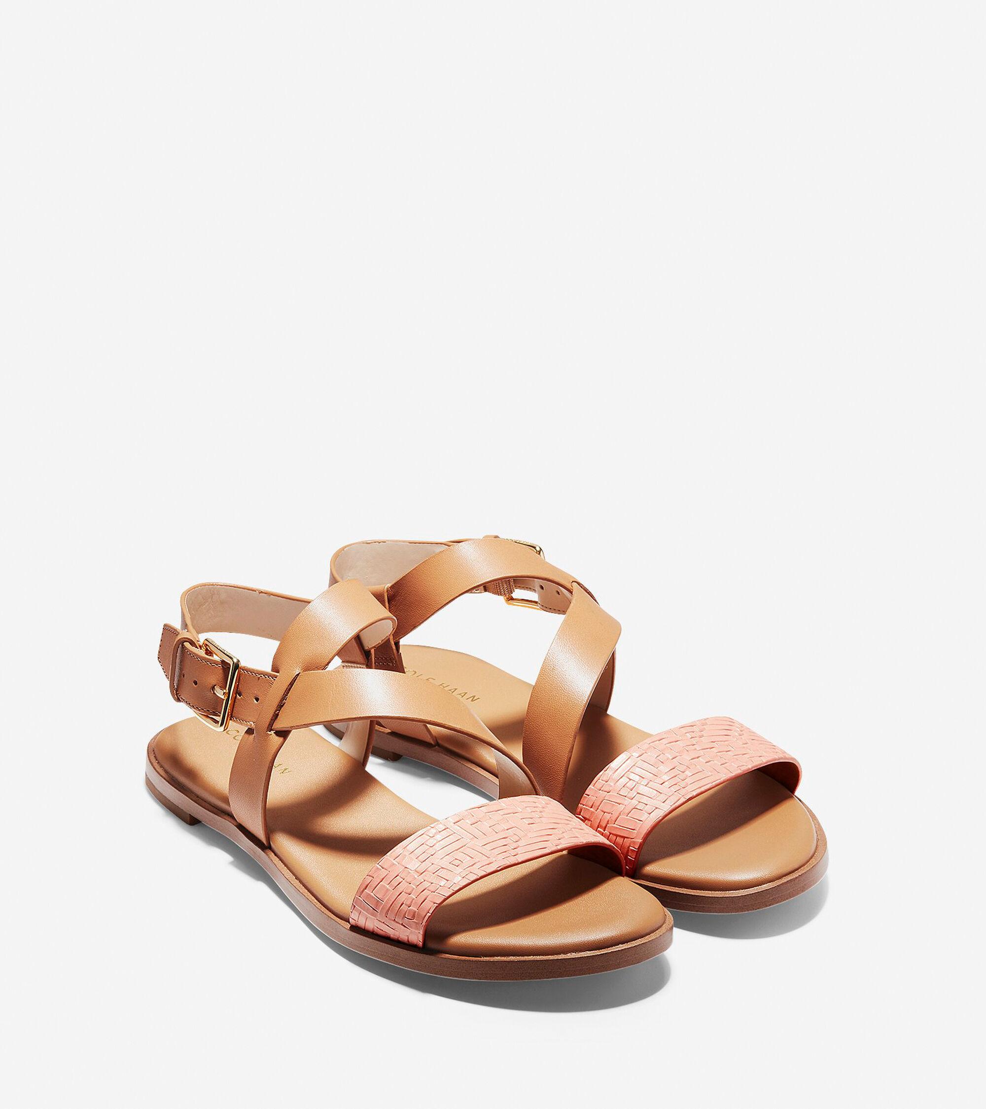11052b3edbae2f Women s Findra Strappy Sandals in Pecan-Coral