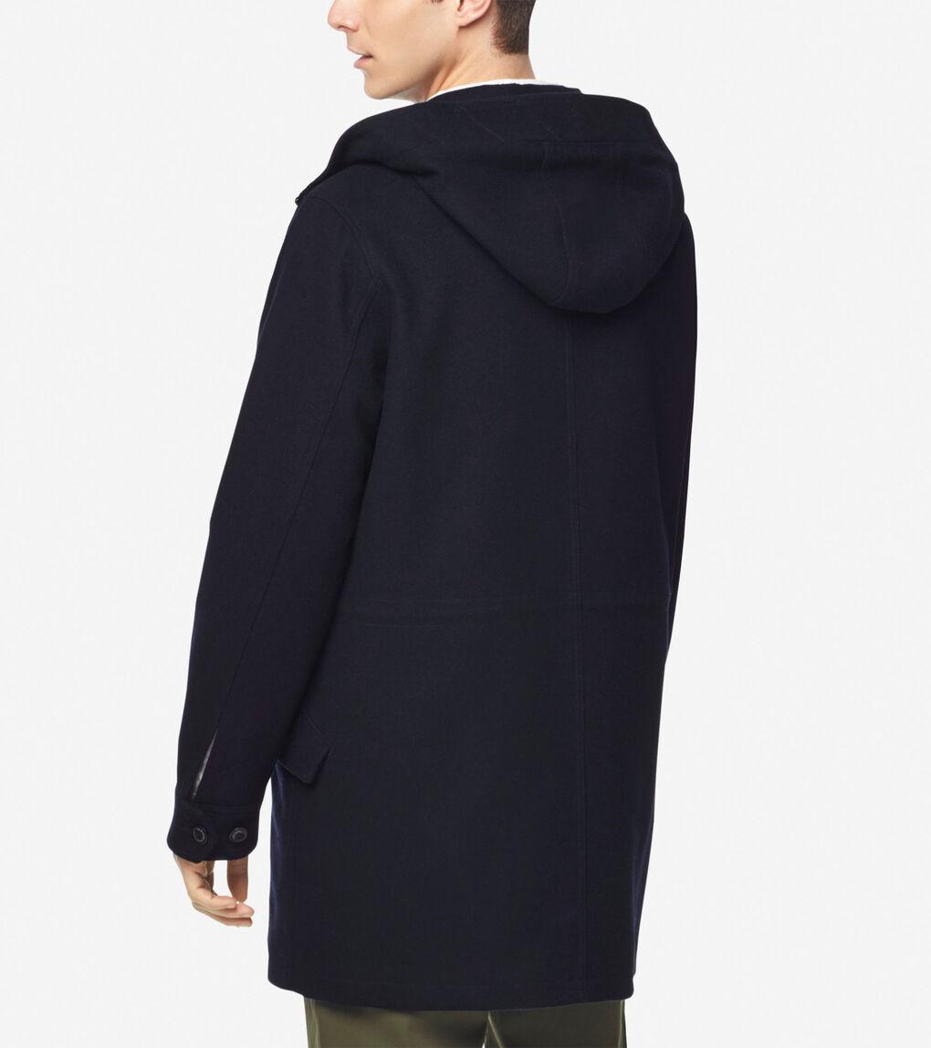 Mens Insulated Melton Wool Anorak