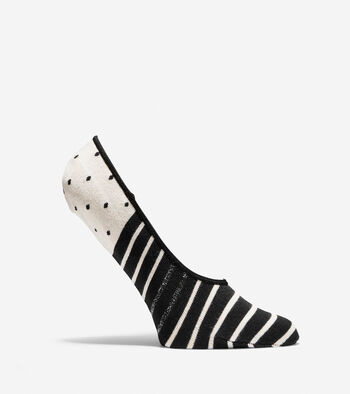 Printed Stripe-Dot Sock Liners - 4 Pack