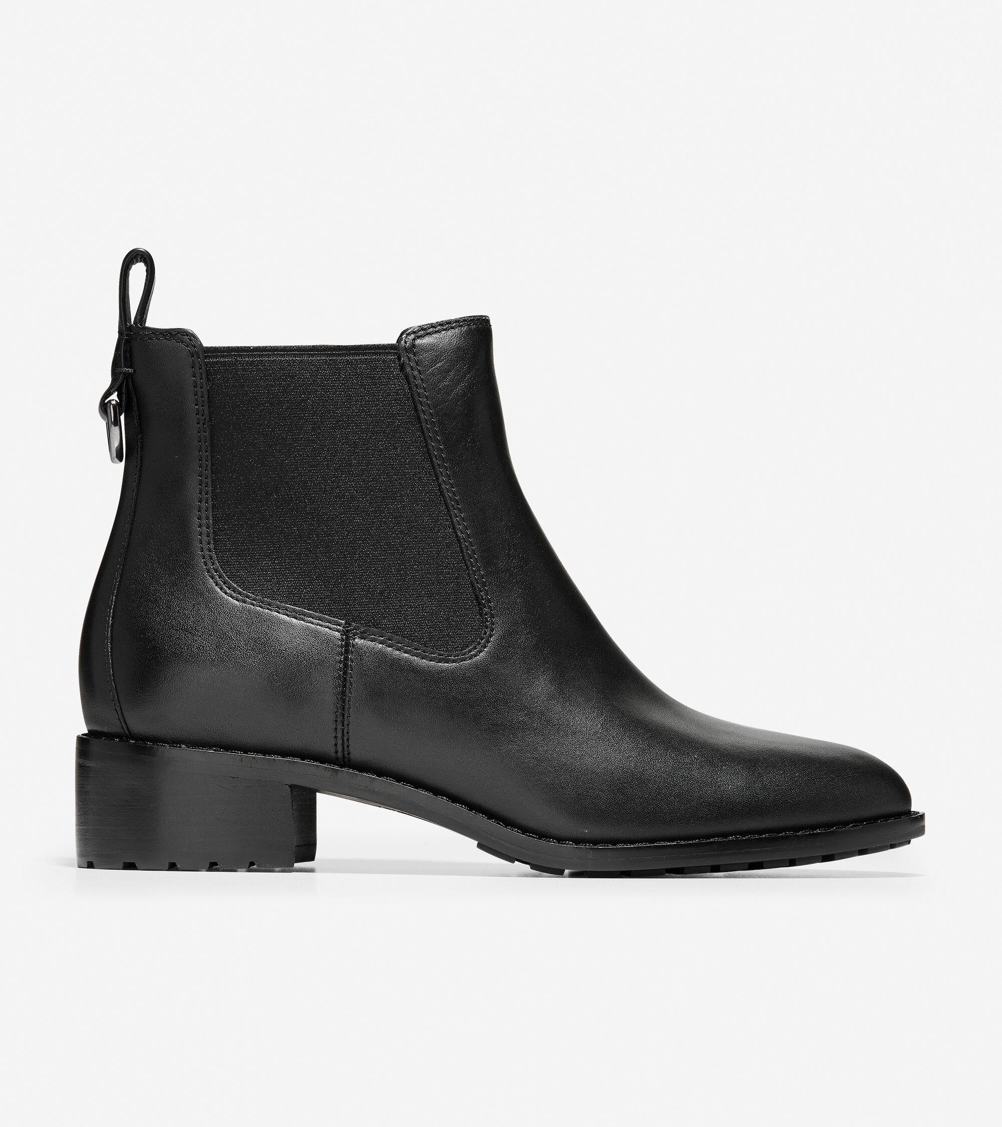 Women's Newburg Bootie in Black Leather