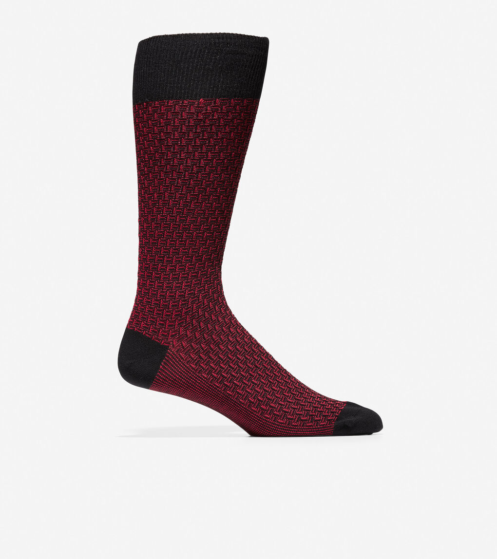 Mens Dog Bone Texture Crew Socks