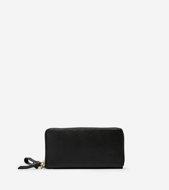 3f9bc252285a Women s Piper Zip Continental Wallet in Black Leather