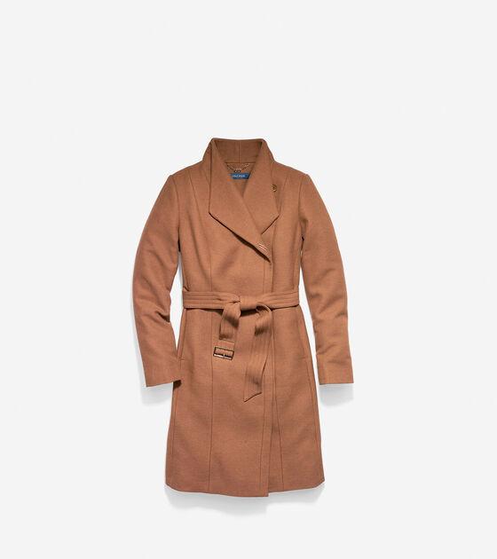 Outerwear > Italian Double-Faced Wool Molded Collar Coat