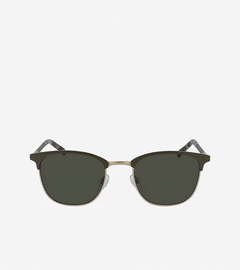 Leather Square Sunglasses