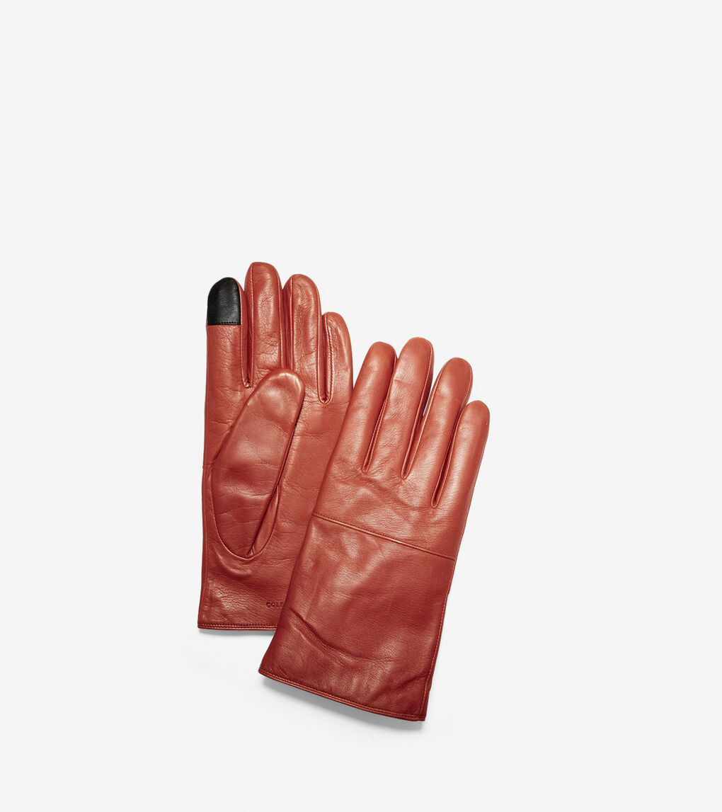Mens Leather Gloves with Horizontal Point