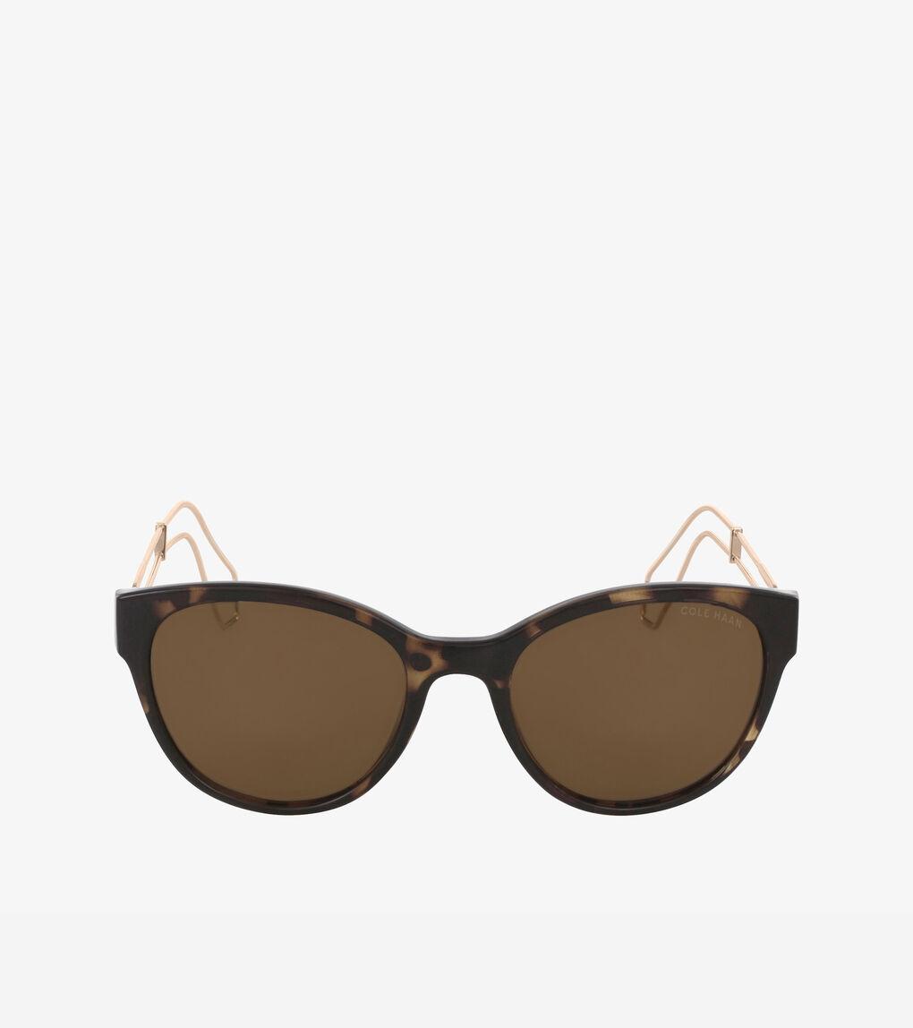 Womens Classic Round Cateye Sunglasses