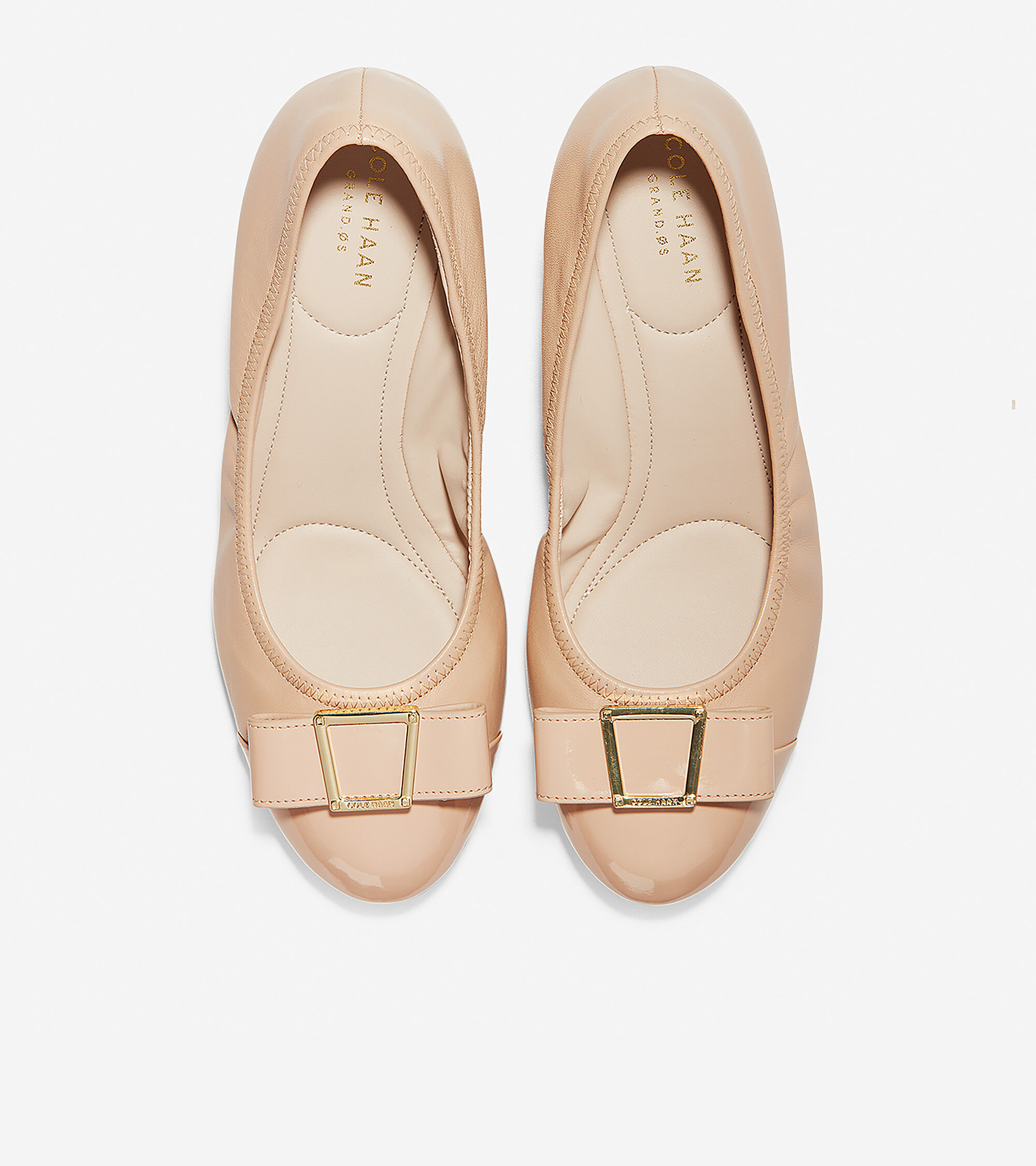 58b6597a8e Women's Emory Bow Wedges 40MM in Nude | Cole Haan