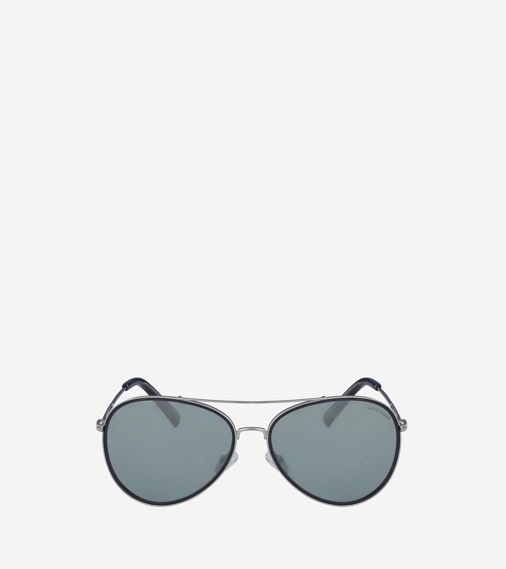 Women\'s Grand Aviator Sunglasses in Silver | Cole Haan