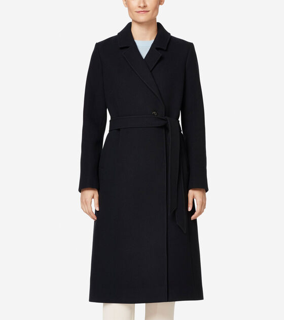 Accessories & Outerwear > Double Faced Wool Wrap Coat