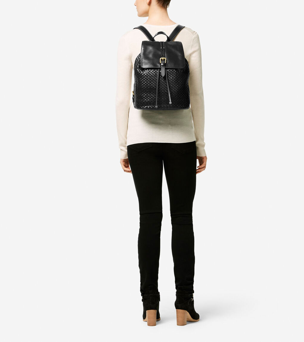 Womens Loralie Weave Backpack