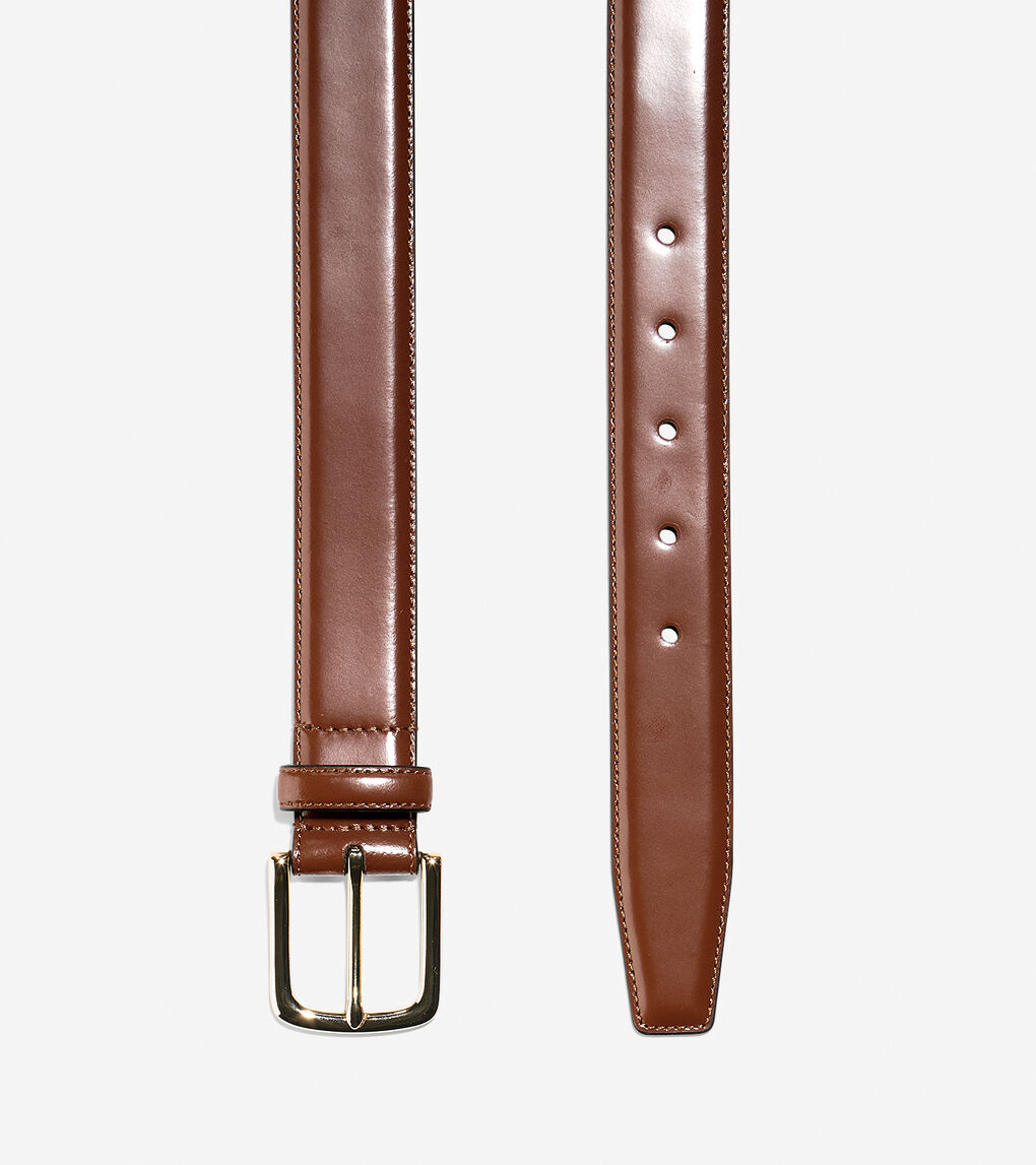Mens 32mm Shine Dress Belt