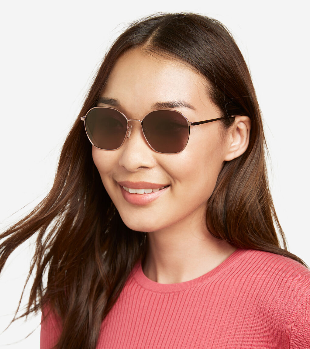 WOMENS Angular Round Sunglasses