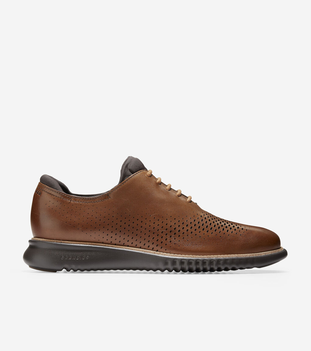 Mens 2.ZERØGRAND Lined Laser Wingtip Oxford