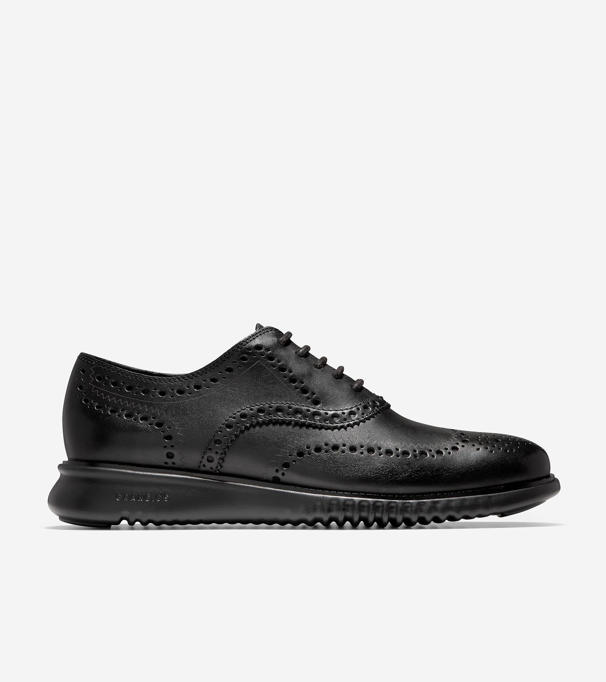 Wingtip Oxford in Black-Black | Cole Haan