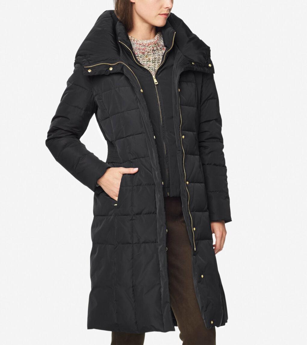 Womens Signature 40-inch Taffeta Down Coat