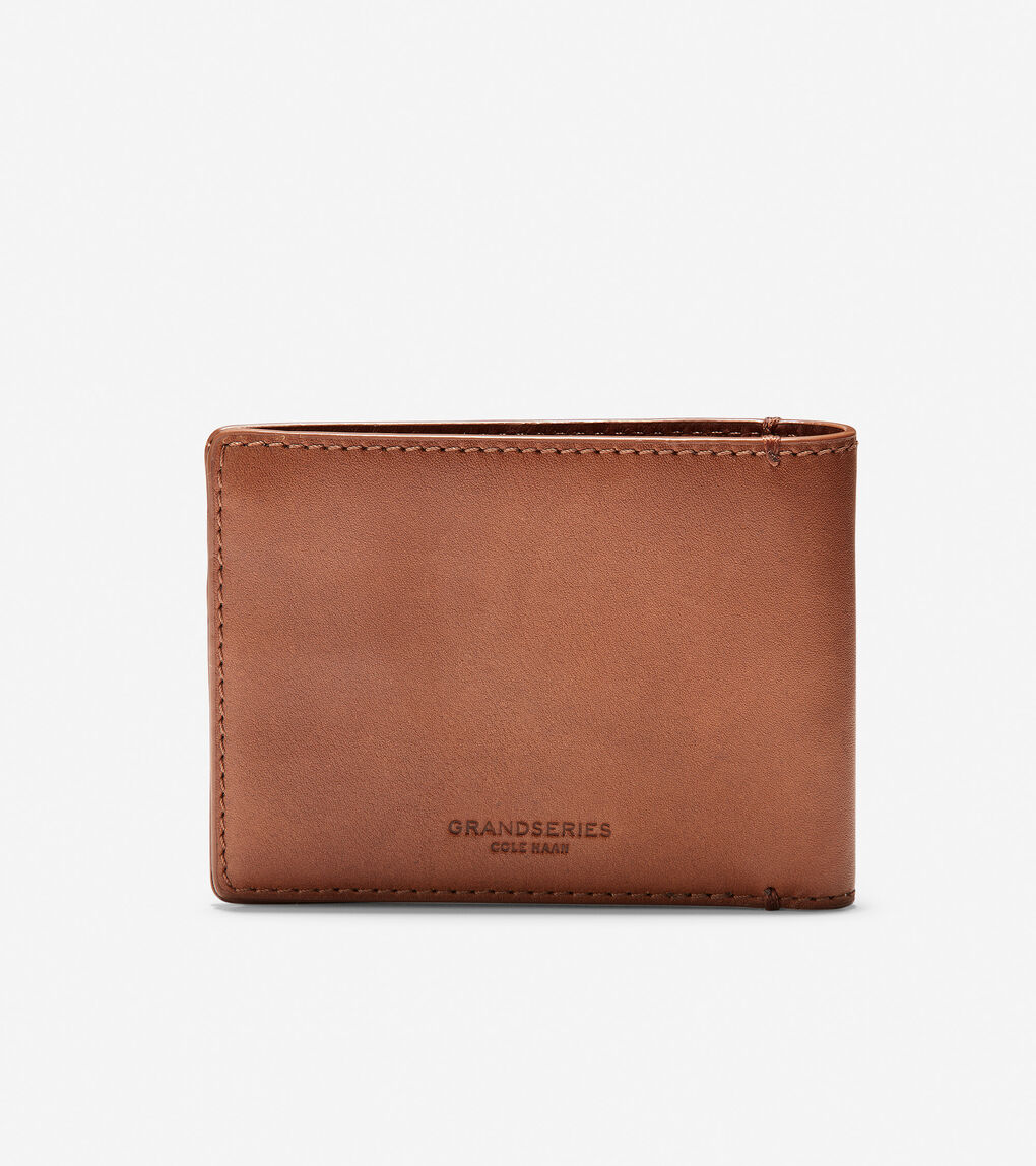Mens GRANDSERIES Leather Bifold With Removable Pass Case