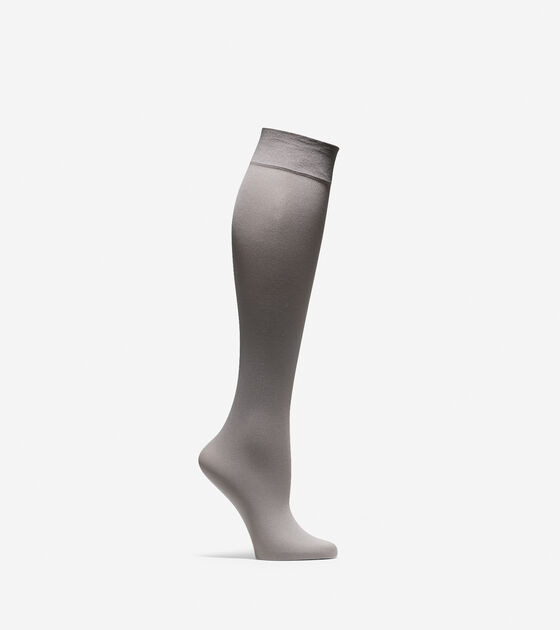 50-70% Off > Solid Knit Knee Socks