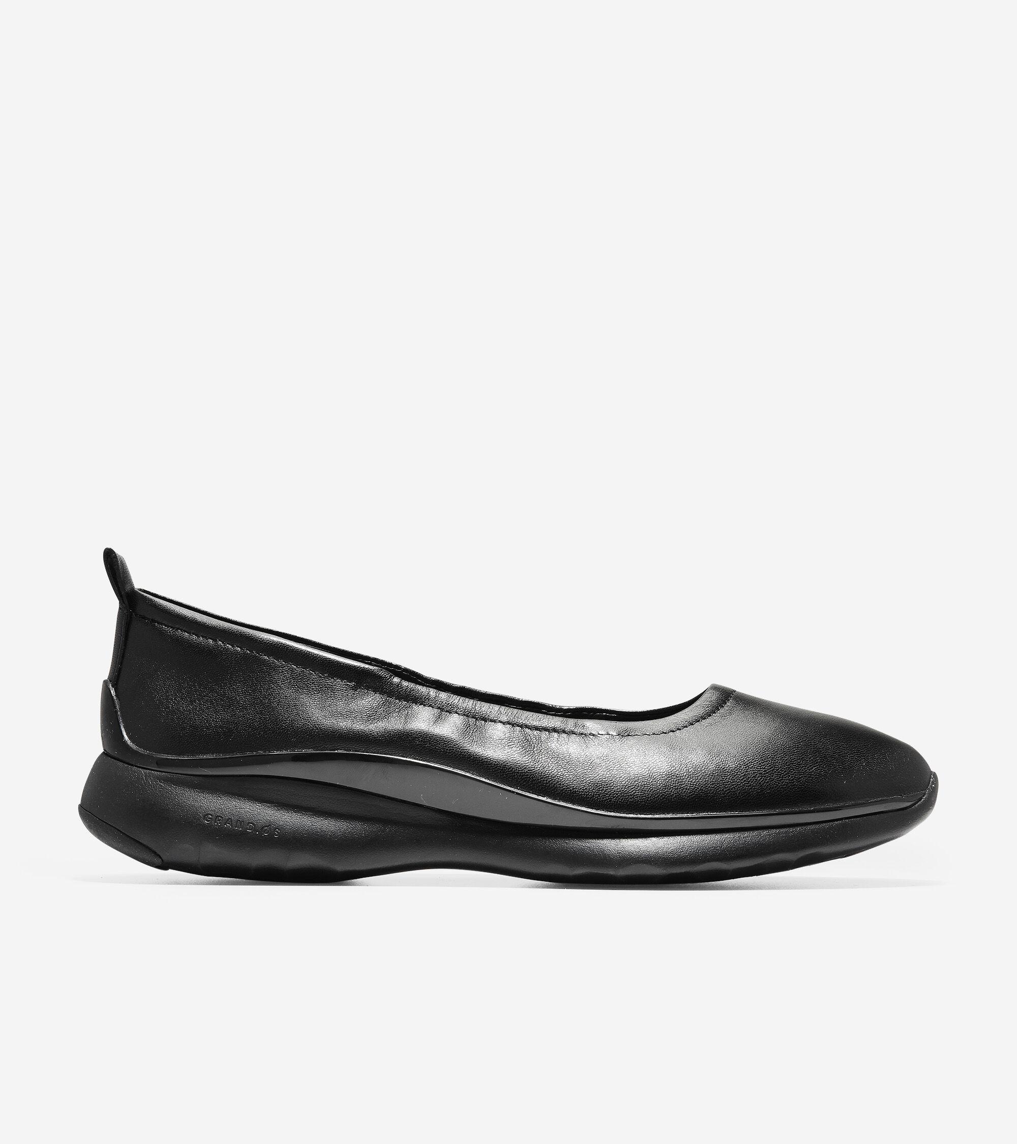 f83ba791ec7 Women s 3.ZEROGRAND Ruched Slip-On Ballet Flats in Black