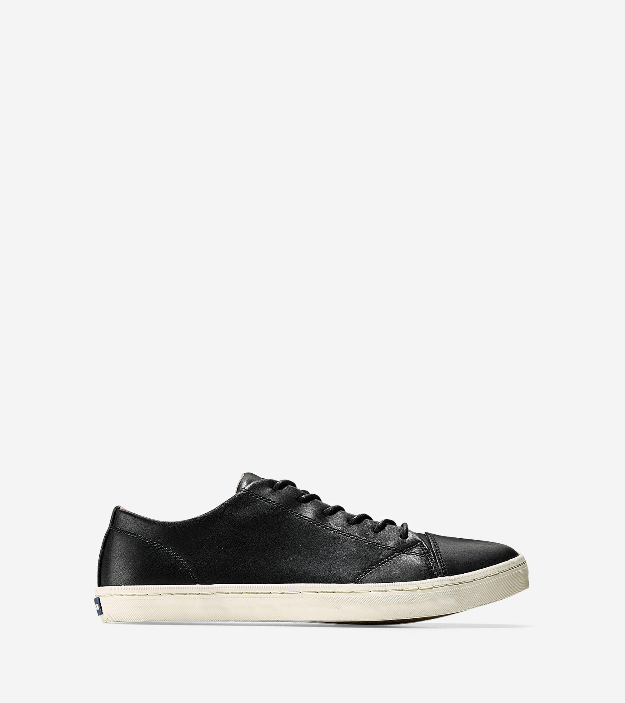 3131887969f3 Cole Haan Men s Trafton Luxe Cap Toe Sneaker in Black Handstain    ColeHaan.com