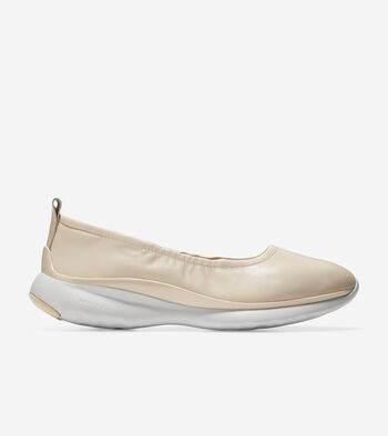 Women's 3.ZERØGRAND Ruched Slip-On Ballet Flat
