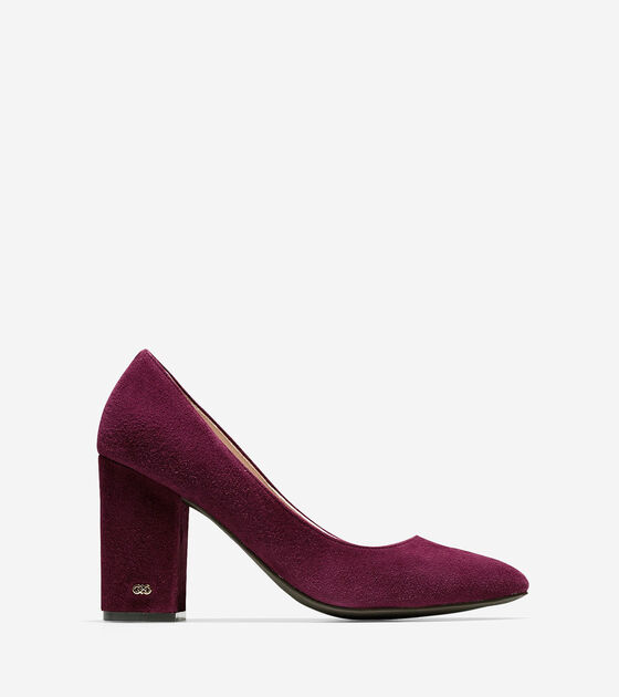 caef1fa886a Women s Alanna Pumps 85mm in Tawny Port Suede