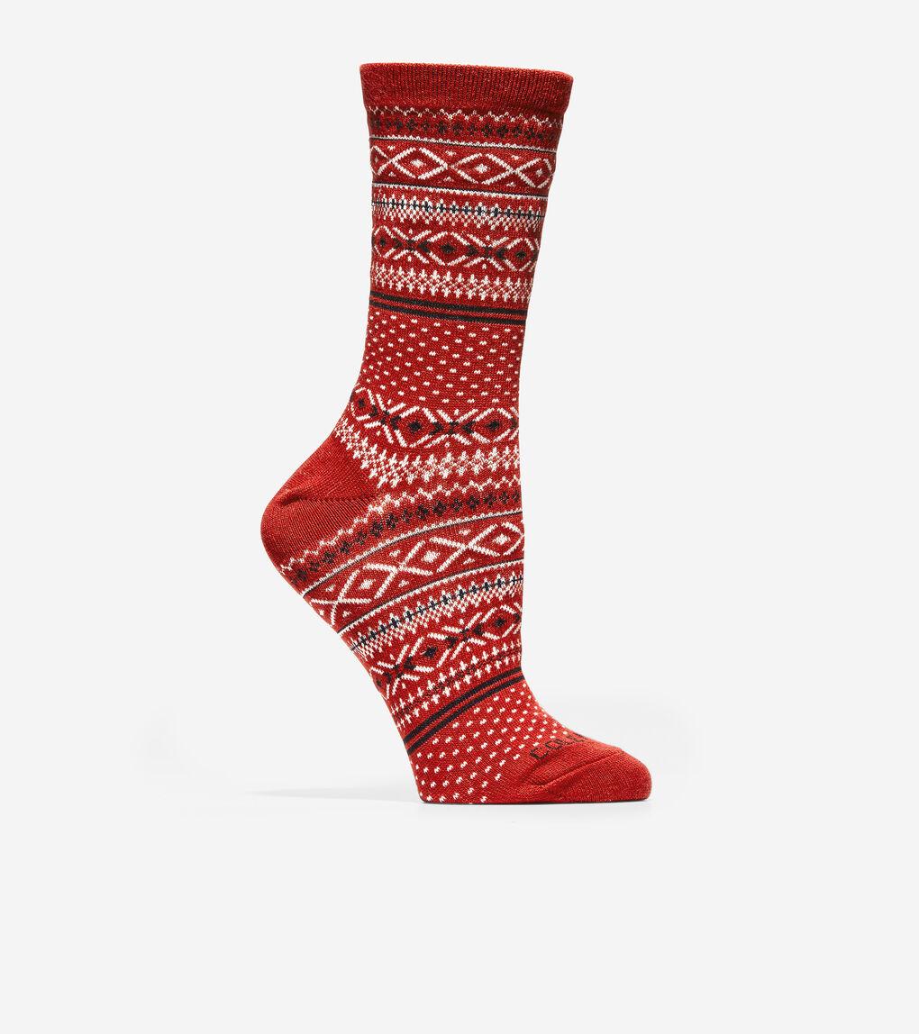 WOMENS Fair Isle Crew Socks
