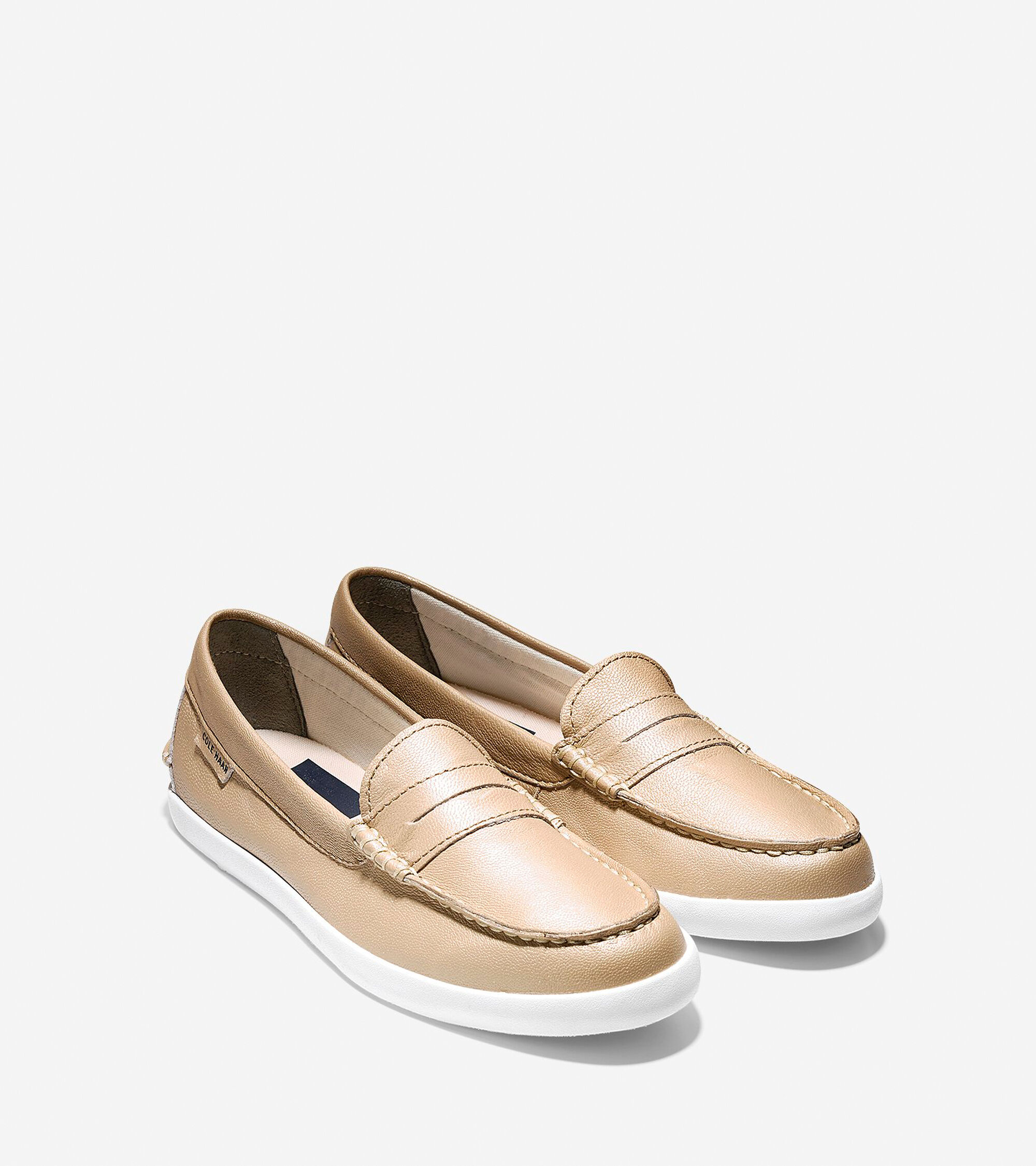 e4f11ae4c22 Women's Nantucket Loafers in Soft Gold Metallic | Cole Haan