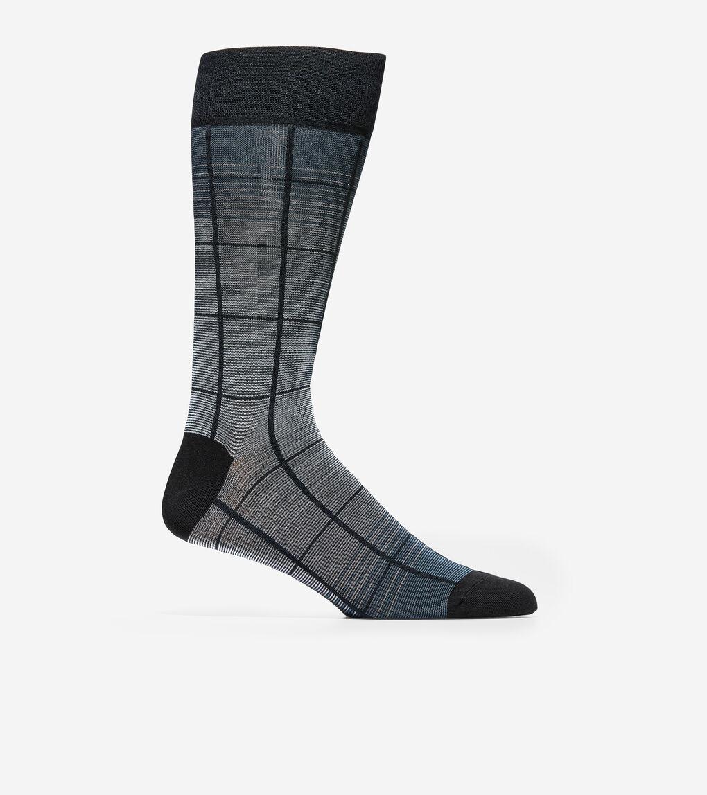 MENS Windowpane Crew Socks
