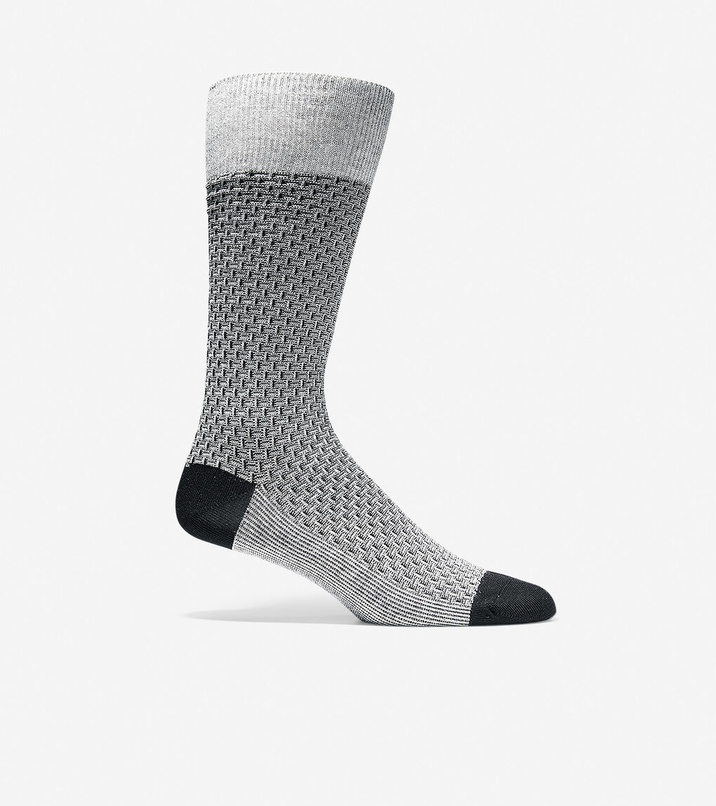 Mens Dog Bone Texture Crew Socks